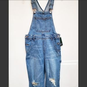 Wild Fable Distressed Blue Demin Jeans Overalls